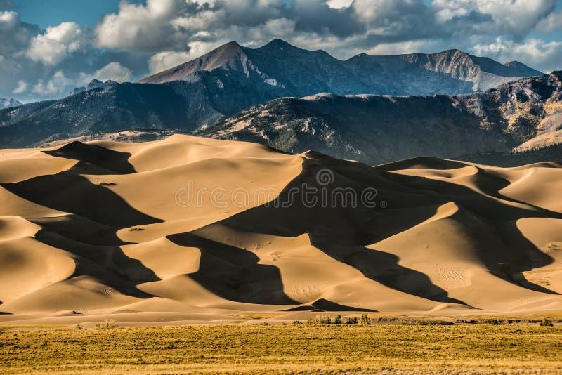 Большие песчанные дюны Колорадо стоковая фотография rf