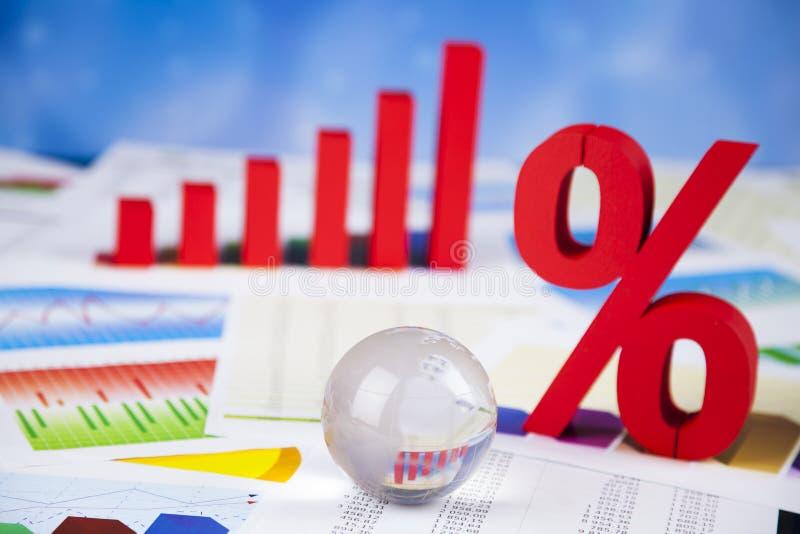 Большие проценты, финансы стоковая фотография rf