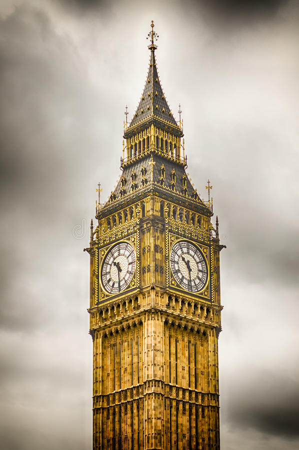 Большое Бен, парламент Великобритании, Лондон стоковая фотография rf