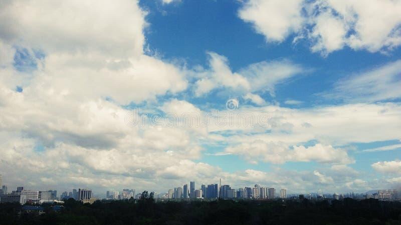 Большое голубое небо стоковое изображение rf
