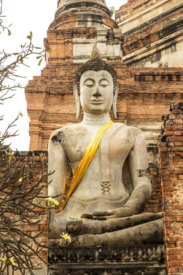 Большое изображение Будды на Ayutthaya стоковые изображения rf