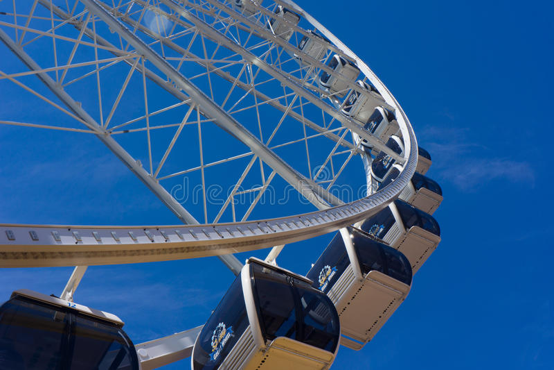 Большое колесо Ferris - горизонтальное стоковые фотографии rf