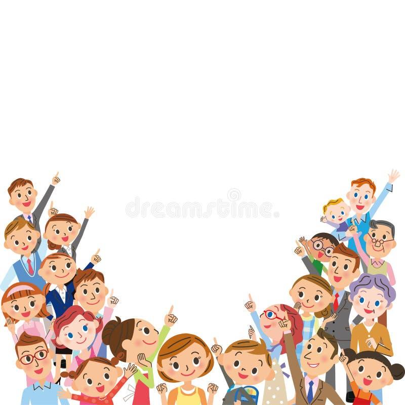 большое количество людей бесплатная иллюстрация