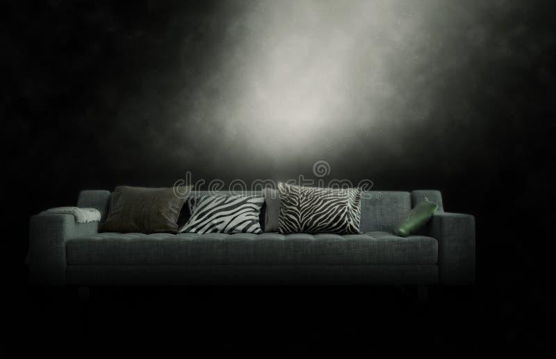 Большое кресло в хмурой закоптелой атмосфере стоковые фотографии rf