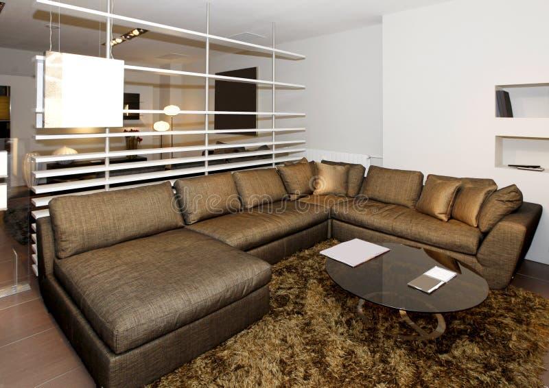 Большое кресло гостиной стоковые фотографии rf