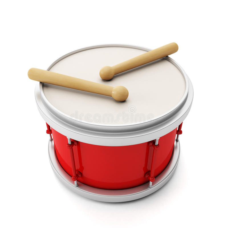 Большой красный барабанчик бесплатная иллюстрация