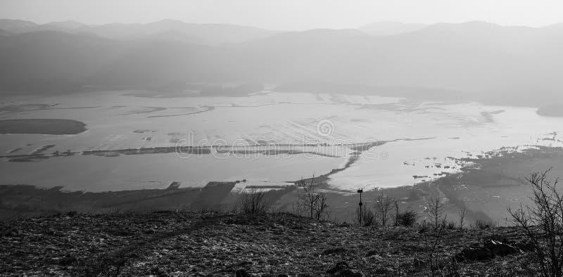 Большое озеро накопления стоковые изображения rf