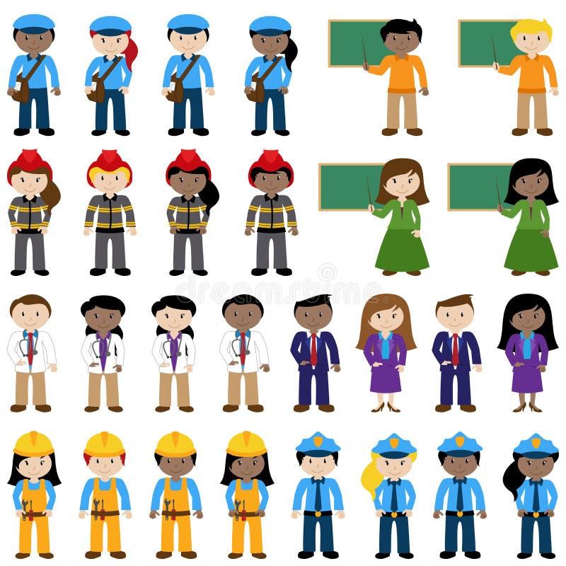Большое собрание вектора людей карьеры иллюстрация вектора