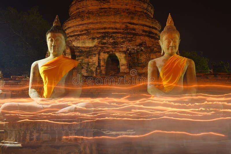 Большой Будда в Wat Yai Chaimongkol, Ayutthaya стоковое изображение