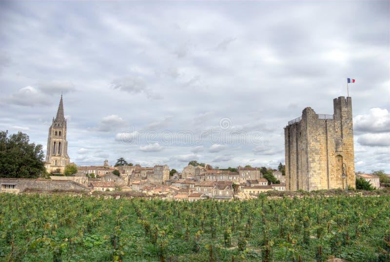 Большой взгляд на Святом Emilion. Франция стоковое изображение rf