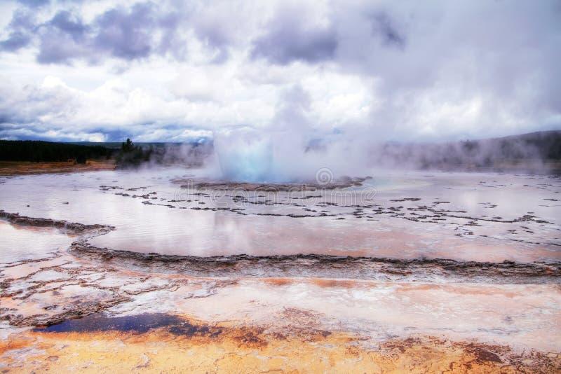 Большой гейзер фонтана стоковое изображение