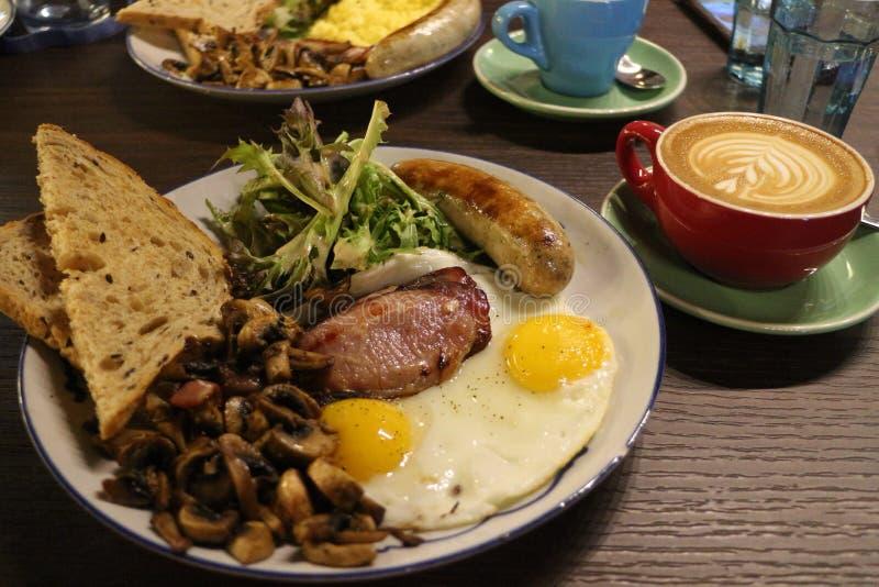 большой завтрак стоковое изображение rf