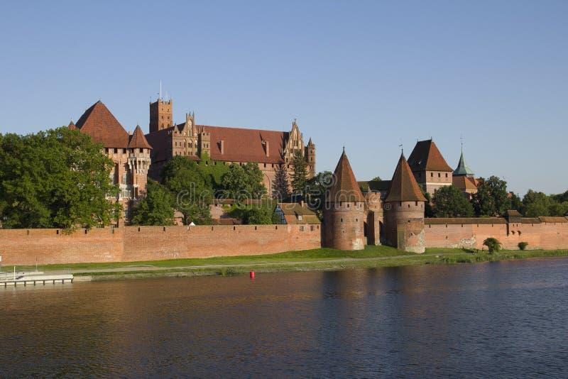 Большой замок в Польше стоковое изображение
