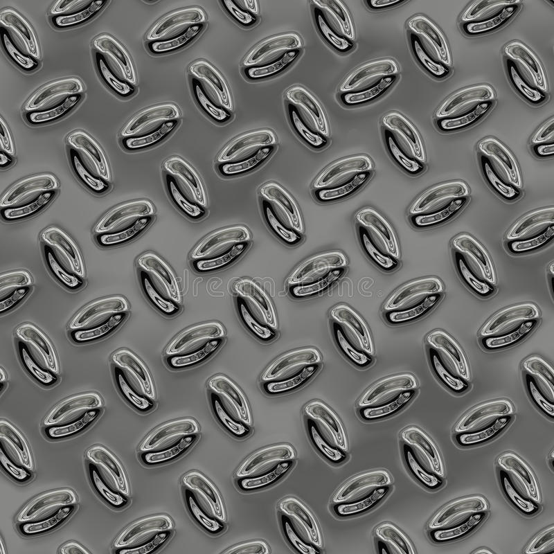 Большой лист славной сияющей плиты проступи хрома иллюстрация штока
