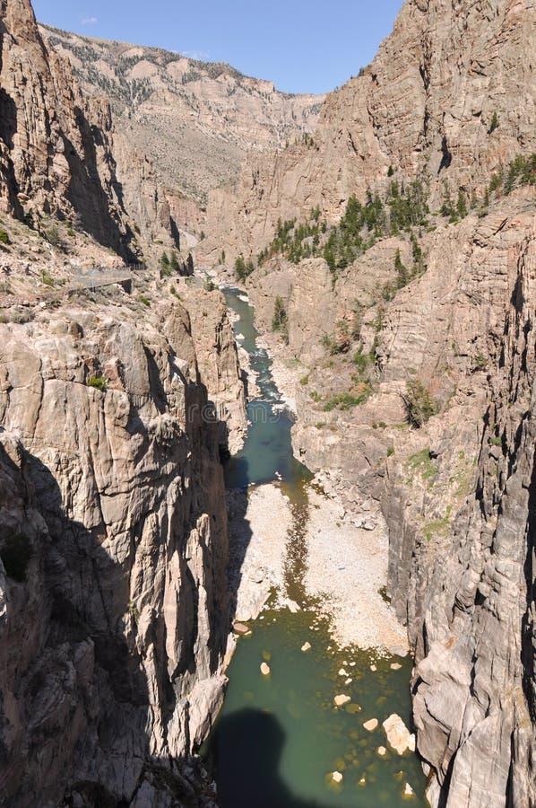 Большой каньон рожка, Монтана, США стоковое изображение rf