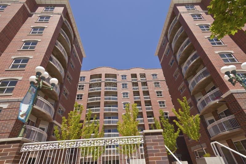 Большой комплекс апартаментов Солт-Лейк-Сити стоковые изображения