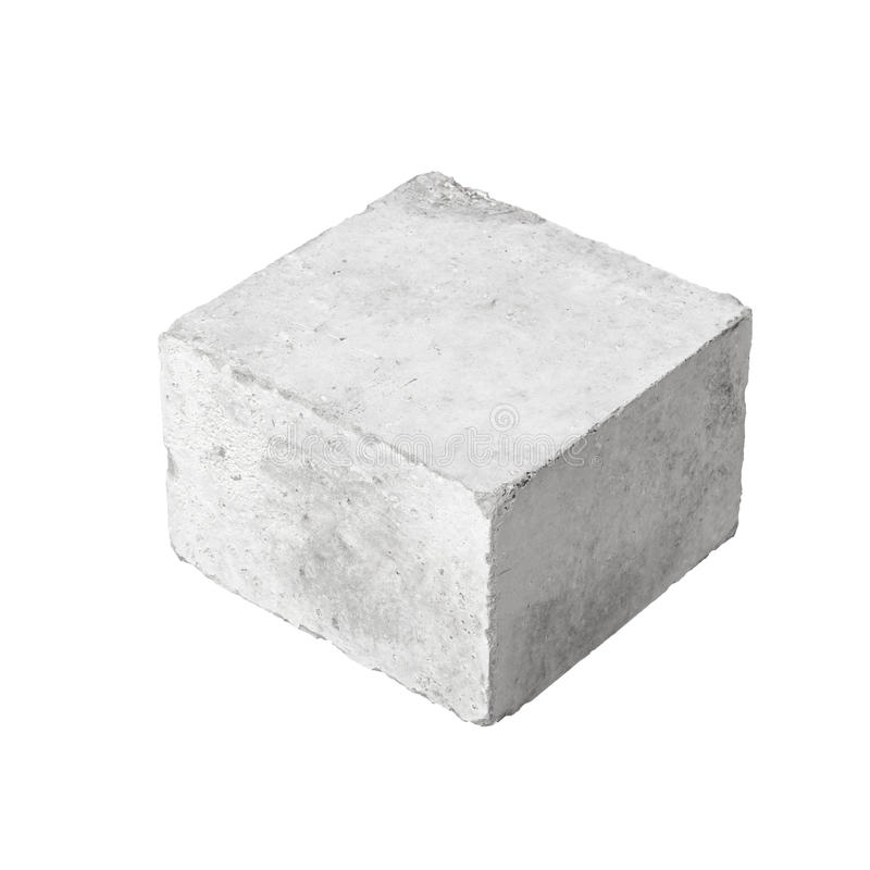 Большой конкретный блок конструкции изолированный на белизне стоковые фотографии rf