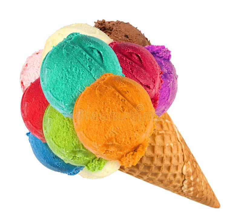 Большой конус мороженого стоковые фотографии rf