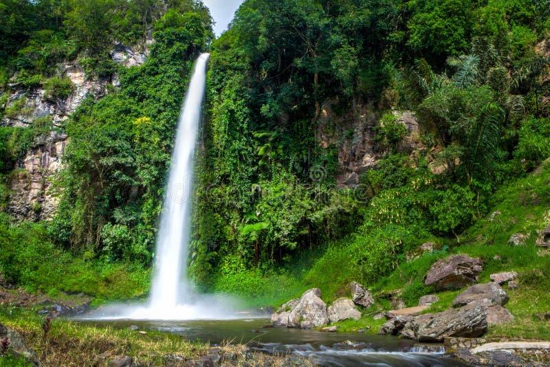 Большой красивый водопад природы в Бандунге Индонезии стоковые изображения rf