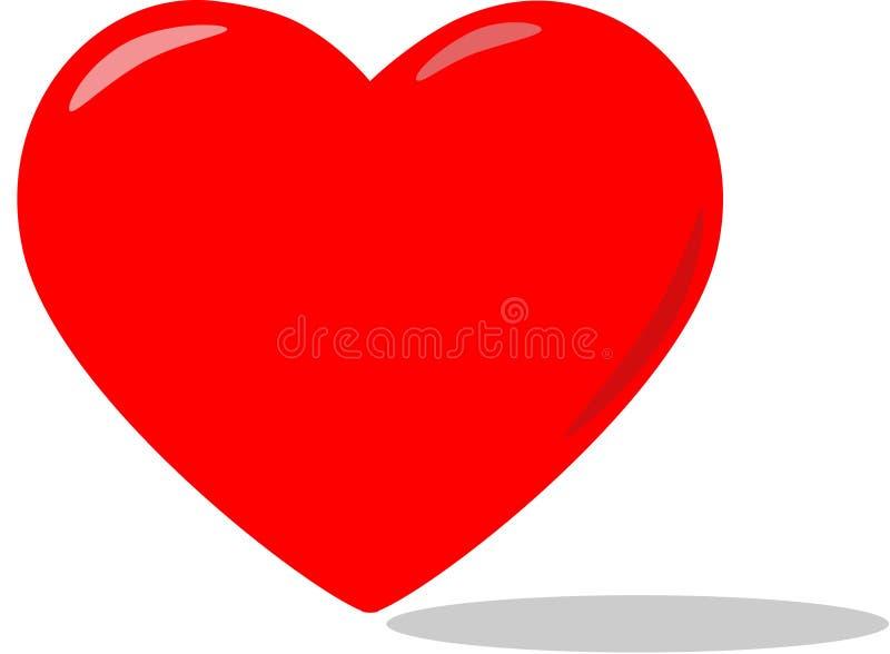 большой красный цвет сердца стоковые изображения