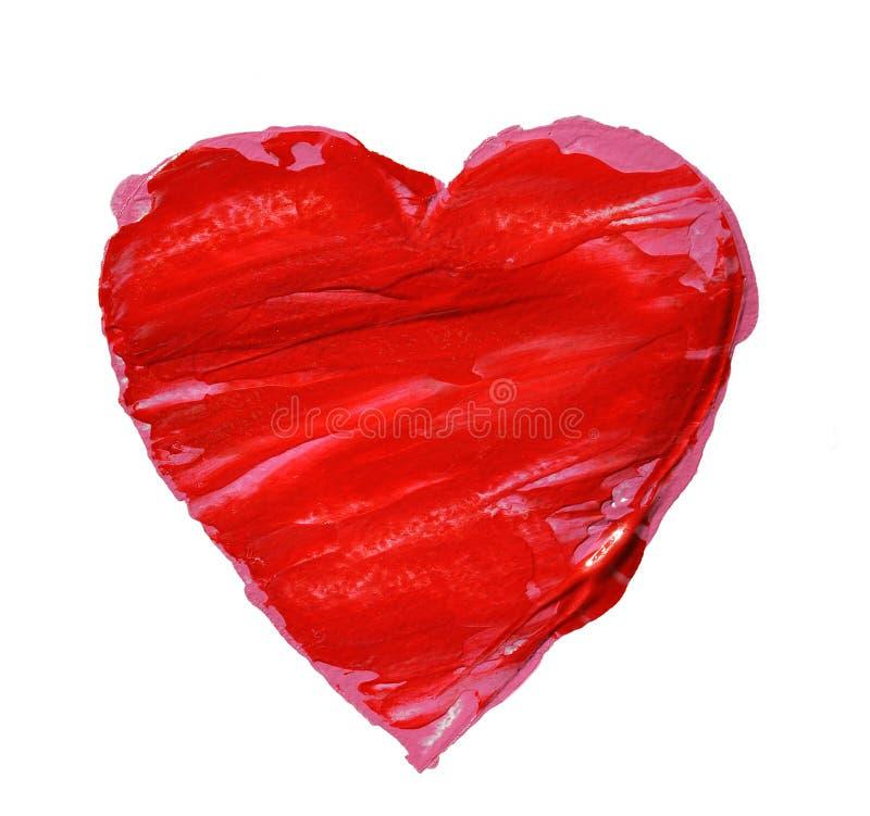 большой красный цвет сердца стоковое фото rf