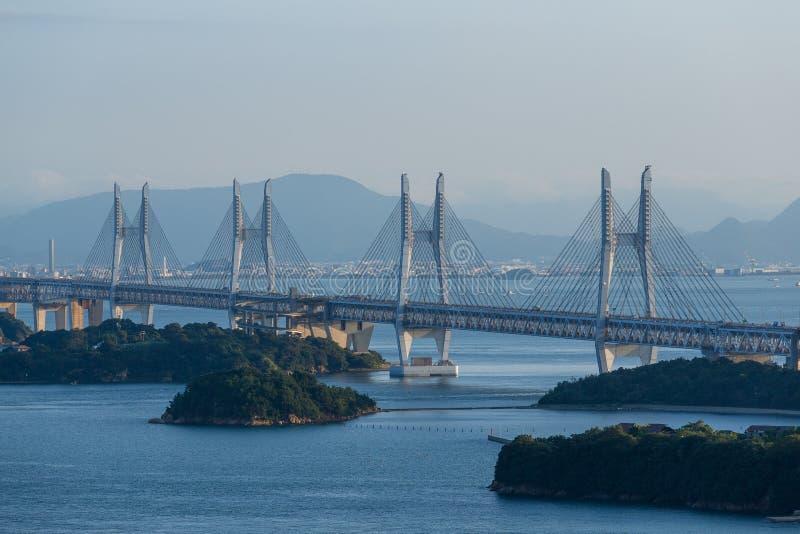 Большой мост Seto стоковые фотографии rf