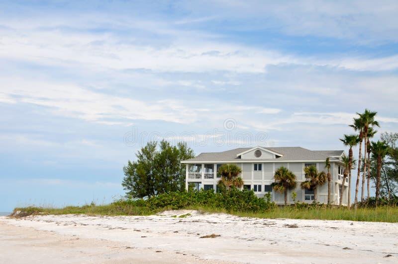 Дом пляжа фронта океана стоковое фото