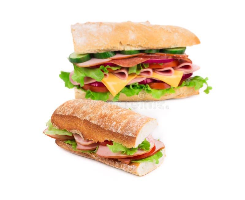 Большой очень вкусный сандвич стоковая фотография