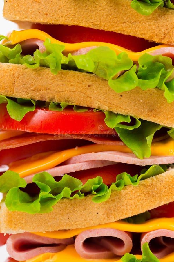 Большой очень вкусный сандвич стоковые изображения rf