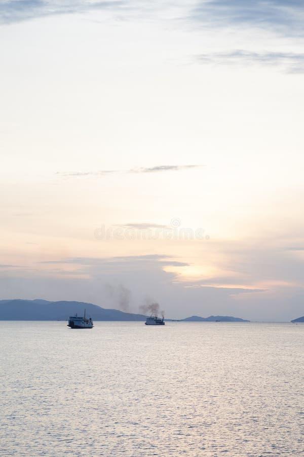 большой пассажирский корабль стоковые изображения rf
