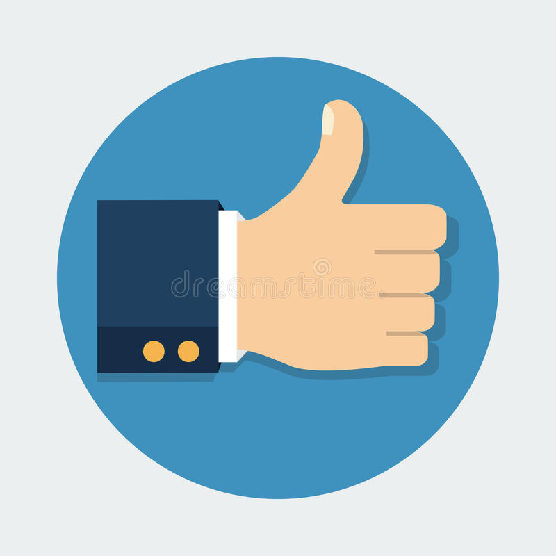 Большой палец руки вверх по значку вектора изолированный на предпосылке как символ бесплатная иллюстрация