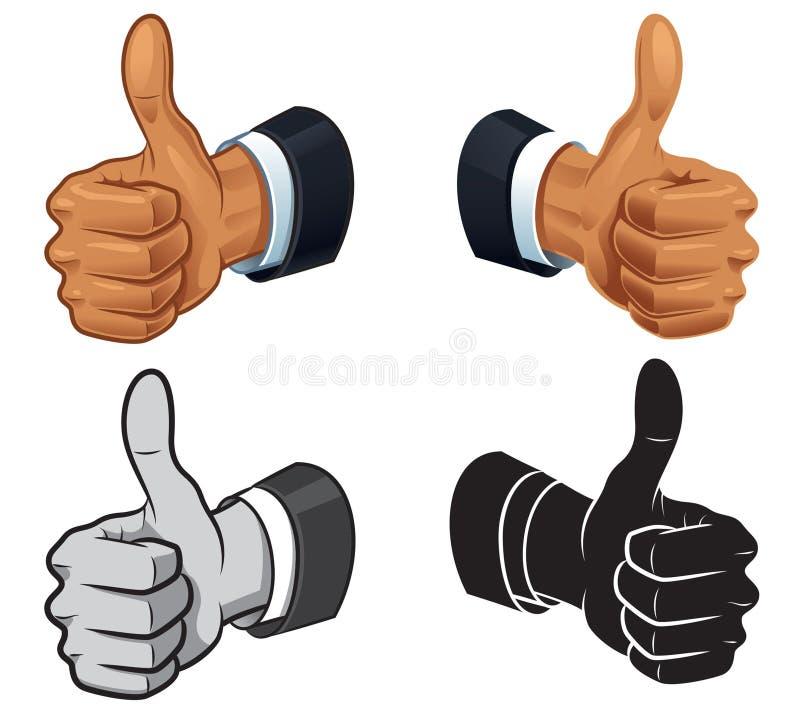 Большой палец руки вверх иллюстрация вектора