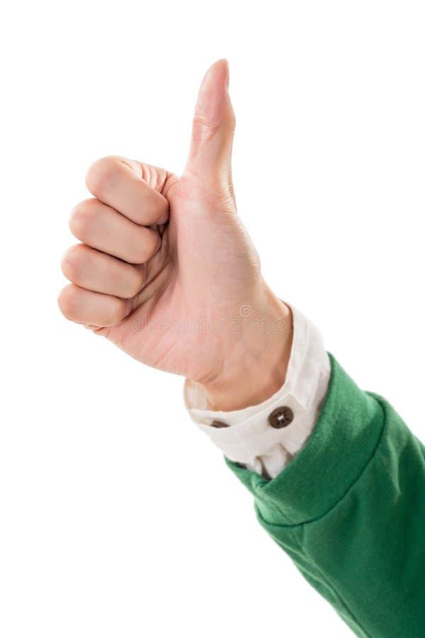большой пец руки жеста вверх стоковые изображения