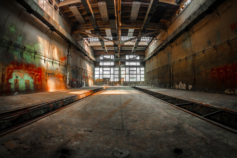 Большой промышленный интерьер стоковое изображение