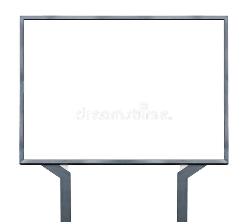Большой пустой, пустой, белый экран афиши стоковые фотографии rf
