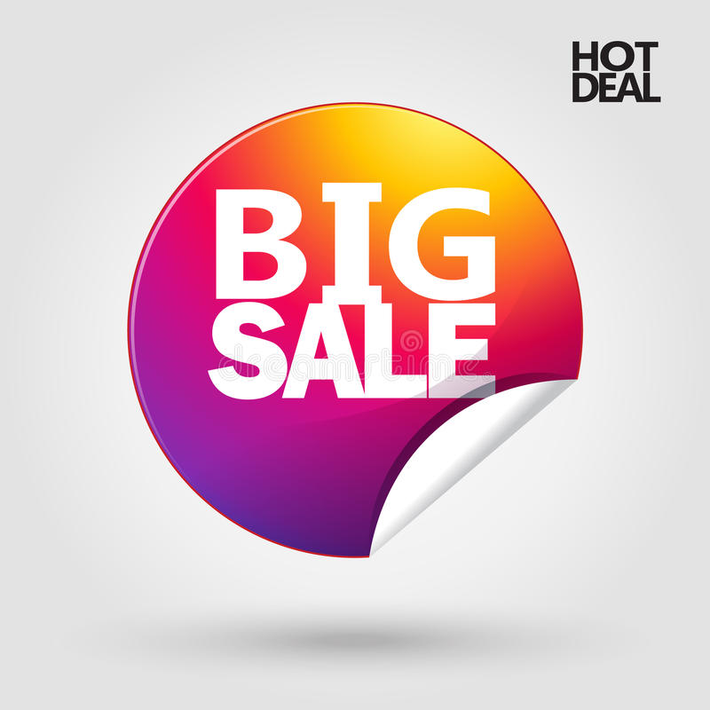 Большой плакат скидки продажи иллюстрация вектора