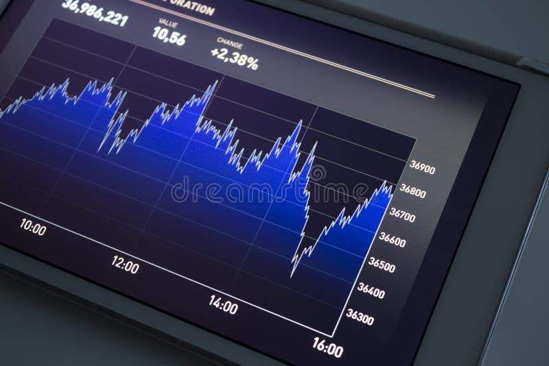 большой рынок диаграммы нумерует шток иллюстрация штока