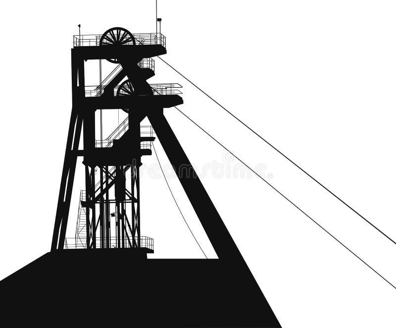 Башня для вектора добычи угля иллюстрация вектора