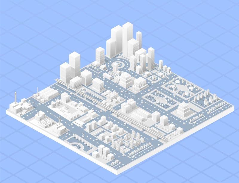 Большой современный город бесплатная иллюстрация