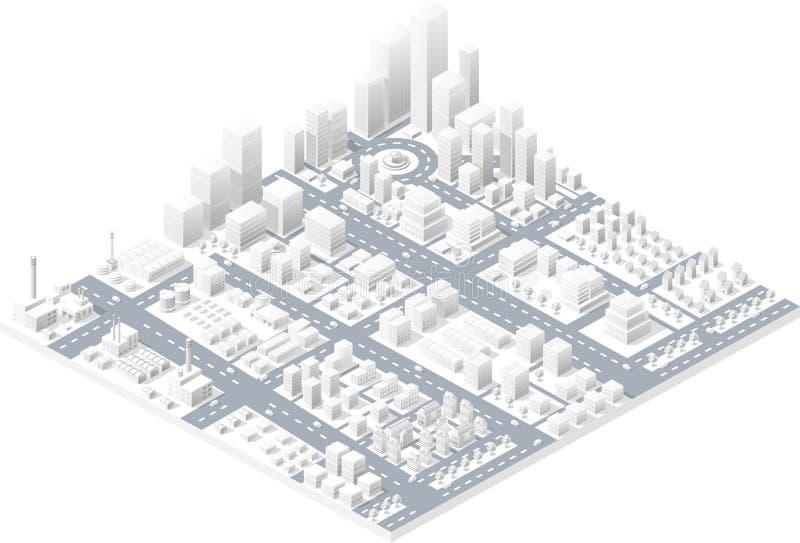 Большой современный город иллюстрация вектора