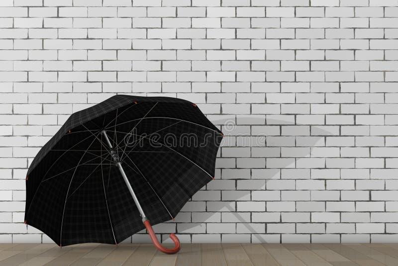Большой современный роскошный зонтик перевод 3d иллюстрация штока