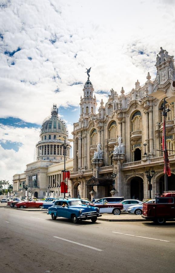 Большой театр Gran Teatro и Capitolio - Гавана, Куба стоковое изображение rf