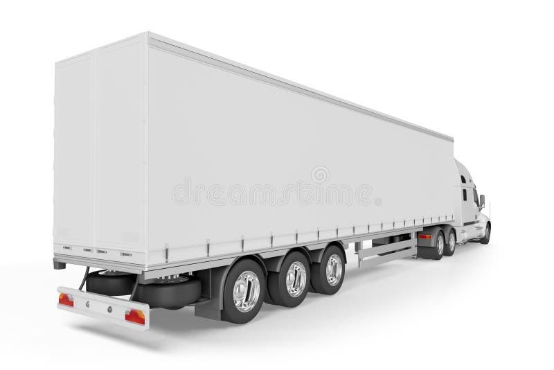 Большой трейлер тележки - на белой предпосылке иллюстрация вектора