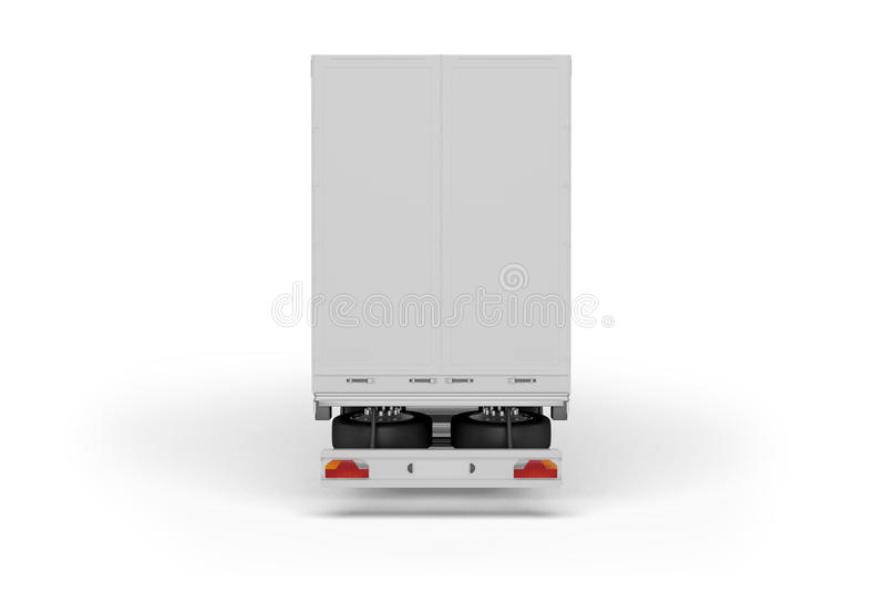 Большой трейлер тележки - на белой предпосылке иллюстрация штока