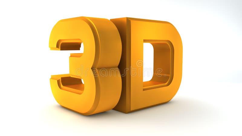 Большой трехмерный изолированный логотип на белизне иллюстрация вектора