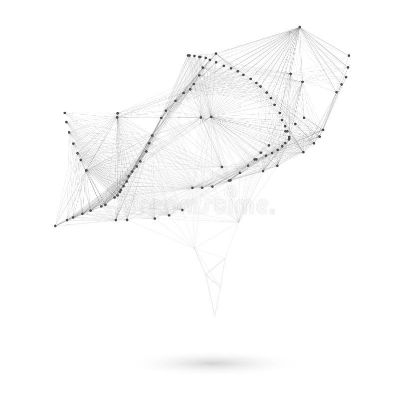 Большой триангулярный ультрамодный пузырь Полигональная иллюстрация вектора бесплатная иллюстрация