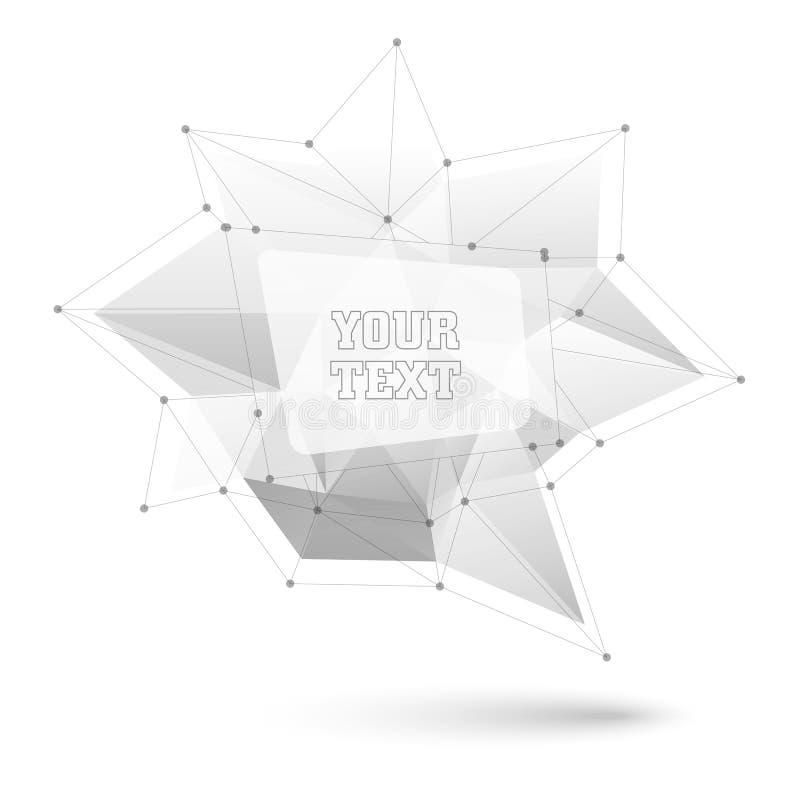 Большой триангулярный ультрамодный пузырь Полигональная иллюстрация вектора иллюстрация вектора