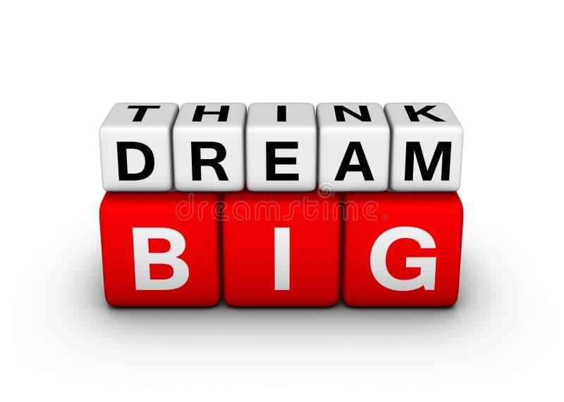 Большой думайте большая мечта бесплатная иллюстрация