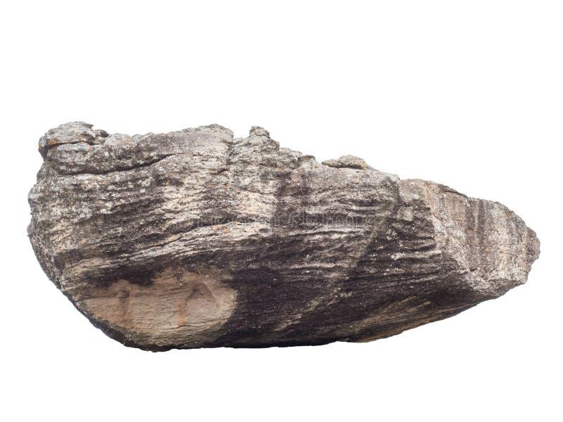 Большой утес песчаника в природе изолированной на белизне стоковое изображение rf