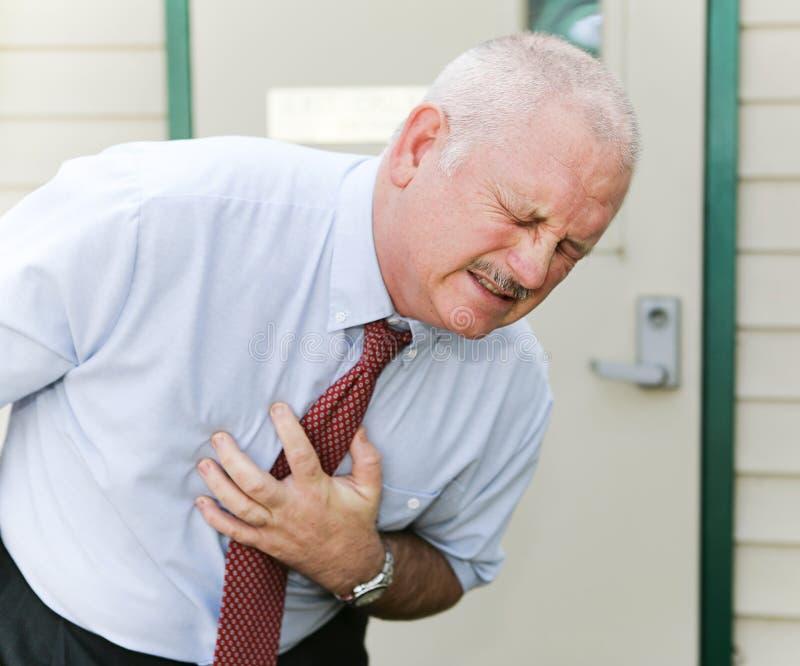 Боль в груди или тошнота стоковое фото rf